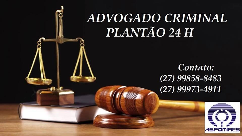 Advogado Criminal Plantão 24h